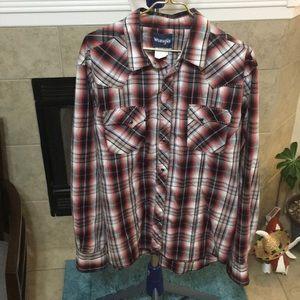 Wrangler Shirts - Wrangler pearl snap western shirt